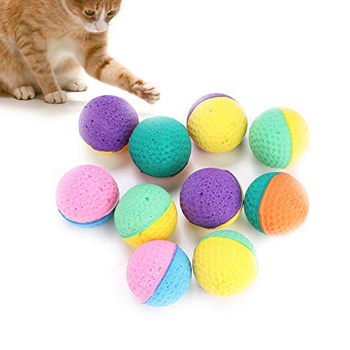 HEEPDD Pelota de Juguete para Mascotas, Bola de Espuma Colorida Juego de rascarse Juguete Cazador Interactivo Teaser Juguetes para Gatos Perros Mascotas Regalo de Novedad