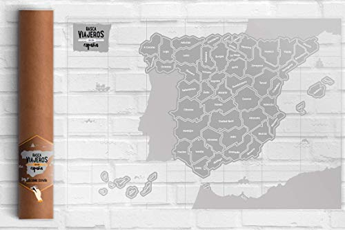 Rasca Viajeros Mapa rascable España Transparente