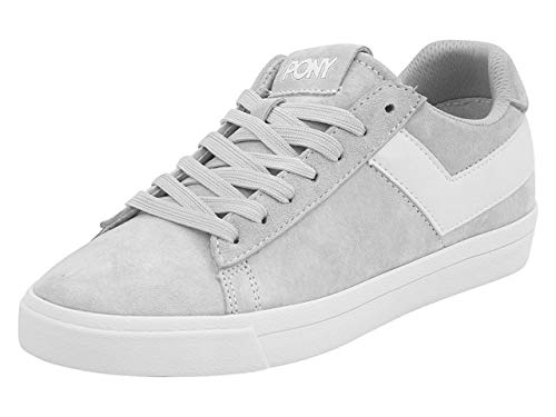 Pony Women's Top-Star-Lo-Core-Suede Grey/White Sneakers Shoes Sz. 7