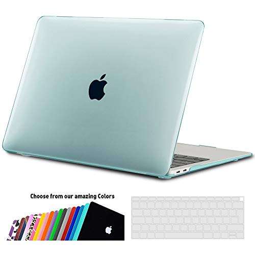 iNeseon Case Cover Compatible 2018 2019 MacBook Air 13 Retina (model A1932), Hard Shell Case and Keyboard Cover for MacBook Air 13-inch with Touch ID, Mint Green