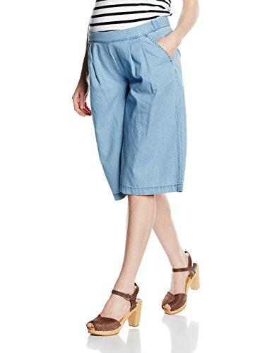 Mamalicious MLTANJA Denim Culotte Shorts Maternité, Bleu-Bleu Clair deim, W29 Femme