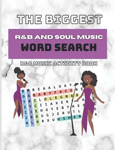 The Biggest R&B and Soul Music Word Search: R&B Music Activity Book