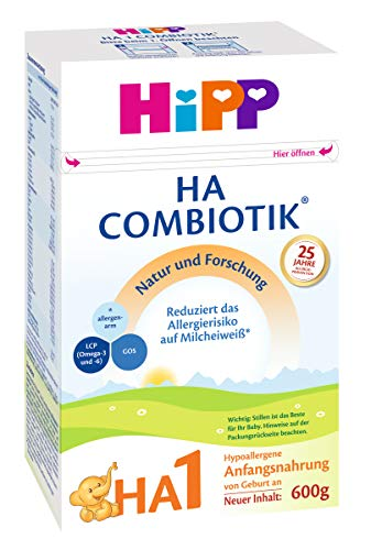 Hipp HA1 Combiotik Anfangsmilch, 2er Pack (2 x 600g)