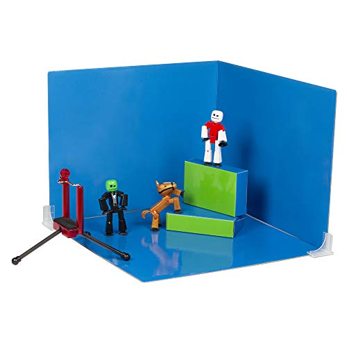 Stikbot Zanimation Studio with Pet - Includes 2 Stikbots, 1 Horse Stikbot, 1 Phone Stand and 1 Reversible Backdrop - in Eco-Friendly Packaging