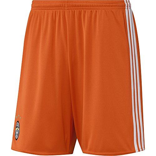 adidas Juve GK SHO 2 Kit Portiere Juventus FC 2015/16, Pantaloncini Uomo, Arancione/Bianco, L