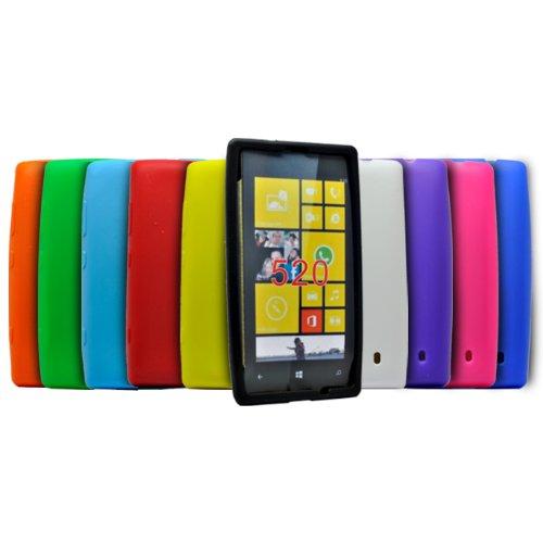 Accessory Master -Cover in Silicone per Nokia Lumia 520, Confezione da 10 Pezzi, Colori Assortiti