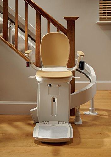 gebrauchter Kurven-Treppenlift inkl. Lieferung & Montage für links oder rechts, mit einer 90grad Kurve & für ein Stockwerk - Pflanz-Homelift