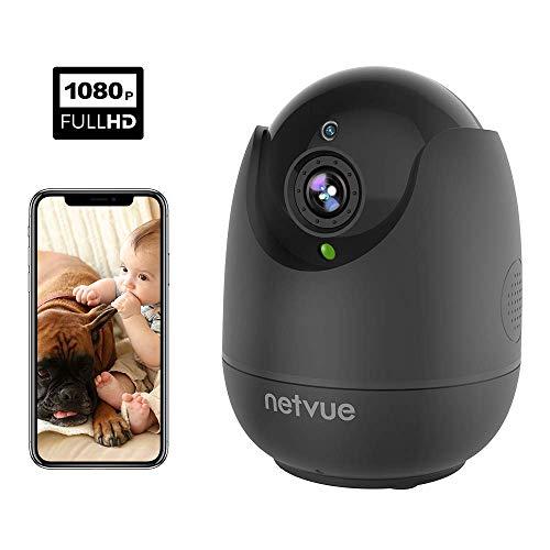 IP Kamera Indoor WLAN Überwachungskamera Innen Handy 1080p HD Sicherheit Kamera Bewegungsmelder, Cloud Speicher, PTZ, Zwei-Wege-Audio, Nachtsicht, Schwarz