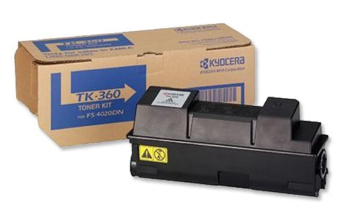 Kyocera TK-360 Toner Schwarz. Original Tonerkartusche 1T02J20EUC. Kompatibel für ECOSYS FS-4020DN