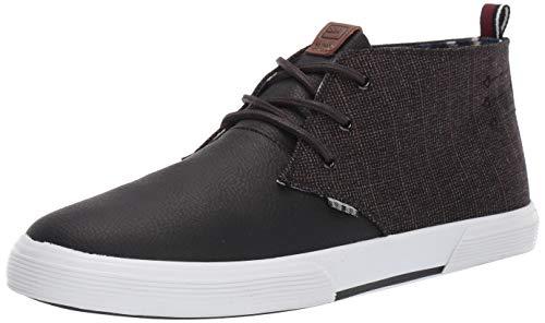 Ben Sherman Men's Lace Up Chukka Sneaker, Black Textile/Polyurethane