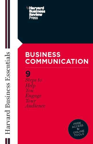 Compare Textbook Prices for Business Communication Harvard Business Essentials  ISBN 9781591391135 by Review, Harvard Business