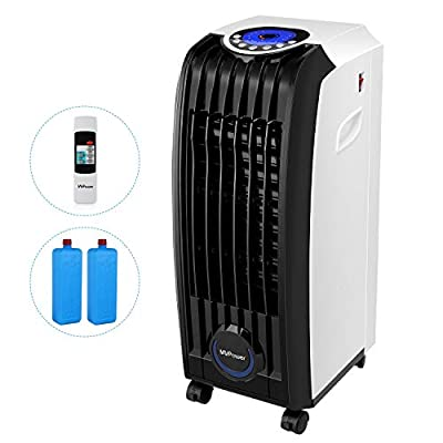 MVPower 3 in1 Air Cooler Fan, Humidifier and Purifier 60W, 3 Speed, 7.5H Timer, with Remote Control&LED Display, Fans&coolers for Home, Office, Room, Study and Living-room