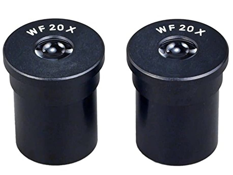 OMAX A pair of WF20X Widefield Microscope Optical Eyepiece 23.2mm