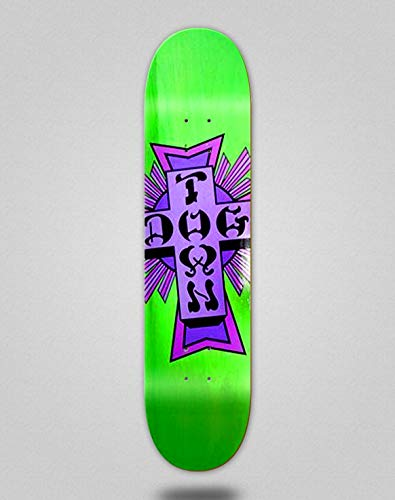 lordofbrands Skate Skateboard Dogtown Street Cross Logo Deck 7.75x31.25 Green Purple
