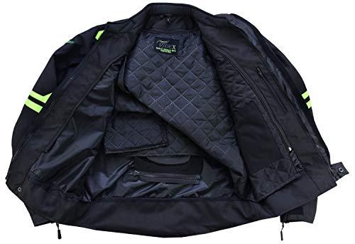 RIDEX Hochsichtbare wasserdichte Motorrad Jacke Herren Schutz Größe L Schwarz/Gelb – schwarz / gelb - 5