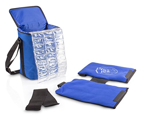 Pro Ice Youth Pitcher's Travel Kit - Small Shoulder Elbow Cold Therapy Wrap to Treat Rotator Cuff with Ice and Compression, PI820 Cooler Bag, Shoulder Wrap & Ice Packs Included