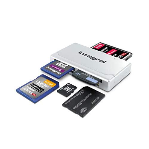 Integral Lecteur USB 19 en 1 pour Cartes Mémoire SD (HC/XC), microSD (HC/XC), MMC, MMCplus, MMCmobile, RSMMC, CompactFlash, MemoryStick (micro/pro/duo/pro duo), xD Picture