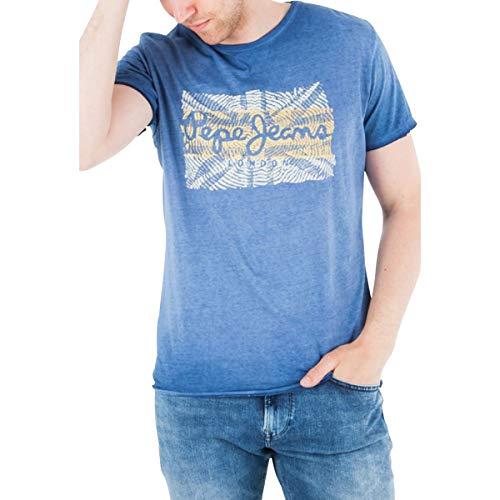 Pepe Jeans Billie Camiseta, Azul (Dk Blue 581), X-Large para Hombre