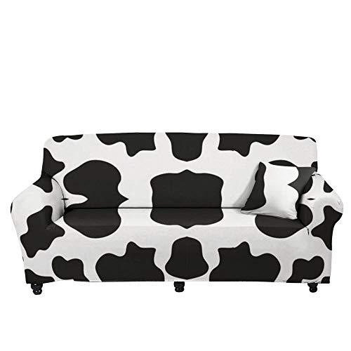 HXTSWGS Funda para sofá de Tela elástica,Funda de sofá elástica 3D, Funda de cojín de sofá con Estampado Crema-Color3_235-300cm
