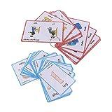 Baoblaze 60PCS Kids Flash Cards Set Flashcard per Immagini Educative E Word Card per L'app...