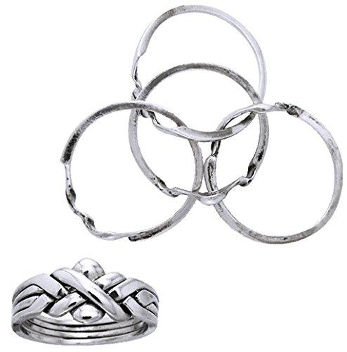 Alterras - Ring: Puzzel aus 925-Silber (Ring-Größe: Ringr. 62 (ø19,7mm; US:#10))