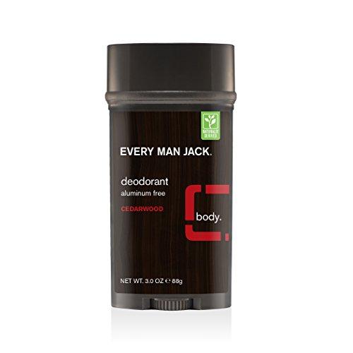 chaque Homme Jack Aluminium gratuit Bois de Cèdre Déodorant, 89 ml