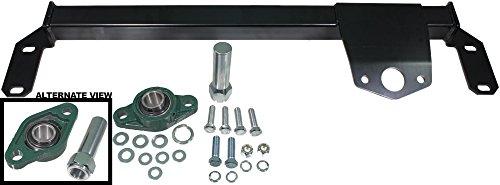 APDTY 133962 Heavy Duty Steering Box Stabilizer Bracket Kit Fits 2003-2008 Dodge Ram 1500 2500 3500 4WD Pickup Trucks w/Standard Steering (Helps Remove Death Wobble; Includes Grease-able Bearing)