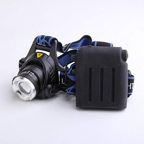lámpara de Cabeza Impermeable XM-L T6 LED Cabeza de Cabeza lámpara de Cabeza de Zoom de Zoom + 4 x 2500mAh 1.2V AA Ni-MH batería Recargable (Emitting Color : P2)