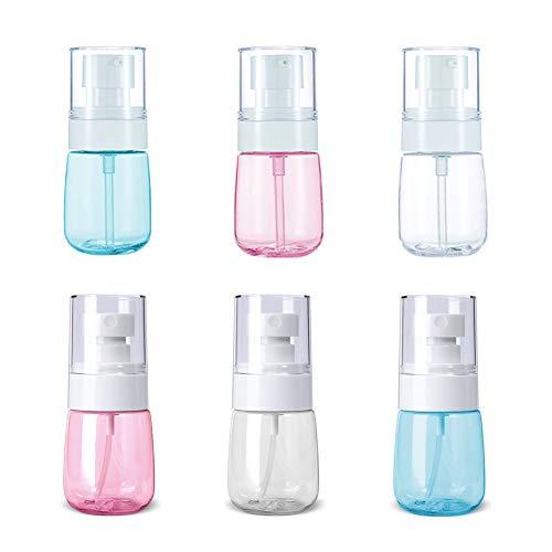 Juego de Botellas de Viaje, 6 Botellas de Tamaño de Viaje Aéreo, Contenedores de Líquidos para Maquillaje Cosmético, Atomizador de Viaje