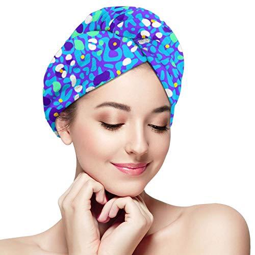 Toalla de pelo de microfibra abrigo mixto piel de leopardo pelo turbante toalla súper absorbente secado rápido gorras sombrero