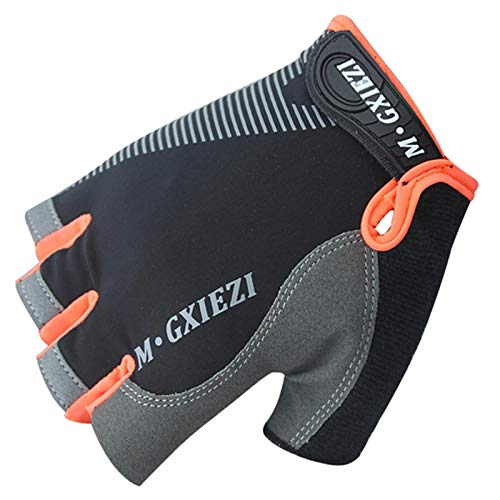 1 Pair Half Finger Cycling Gloves, Anti-Sweat-Proof Gel Cyclists Shockproof MTB Road Mountain Bike Sports Gloves