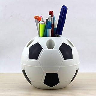 loyouve ペン立て サッカーの風格 収納ケース 筆 はさみ スマホ 小物収納 卓上収納 ブラウン おしゃれ オフィス 事務用品 文房具