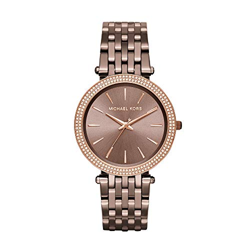 Michael Kors Women's Japanese-Quartz Watch with Stainless-Steel Strap, Brown, 20 (Model: MK3416)