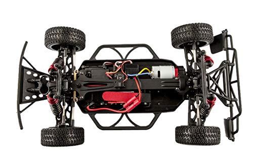 RC Auto kaufen Short Course Truck Bild 4: LC-Racing Mini Brushed Off-Road Short Curse Truck 1:14 RTR EMB-SCL | das perfekte Fahrzeug zum Einstieg in den RC-Car Sport | Brushed Antrieb | ca. 30 Km/h schnell | 4-Rad Antrieb | komplett Kugelgelagert | Öldruckstoßdämpfer einstellbar | Aluminium Kardanwelle | gekapselter Antrieb | Carbon Tuningteile erhältlich | Schnellladegerät und Fahrakku inklusive | diverse Umbaumöglichkeiten | viele Tuningteile erhältlich | Umbau auf Brushless möglich | sehr stabil durch Nylonkunststoff*