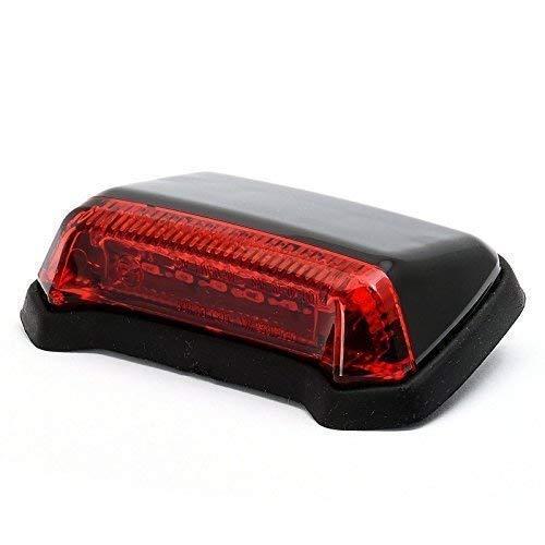 12V LED Super Flat Mini Rücklicht schwarz Taillight für Motorrad Harley Chopper Trike TÜV Zugelassen
