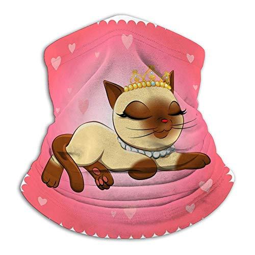 Paño facial para hombres y mujeres, compatible con polaina de cuello resistente al viento, bufanda facial para actividades al aire libre, gato, raza, gato siamés, gatos encantadores
