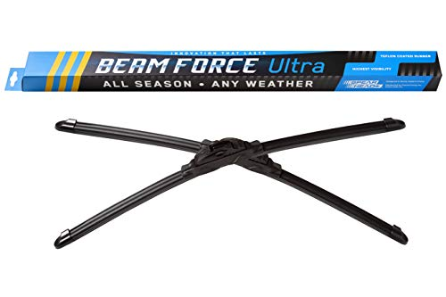 "Spearhead Beam Force ULTRA 22""+21"" Wiper Blades w/Teflon Rubber for Max Durability, Warranty (Pair)"