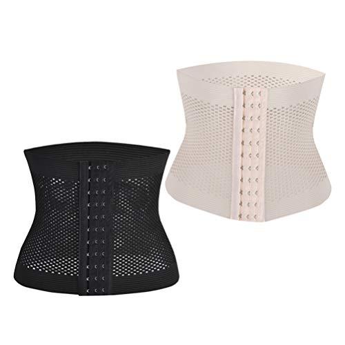 Supvox 2 Stücke Postpartum Gürtel Bauchgurt Bauchband nach Geburt Taillenformer Damen Korsage Korsett Shapewear Waist Trainer für Gewichtsverlust Körperformer