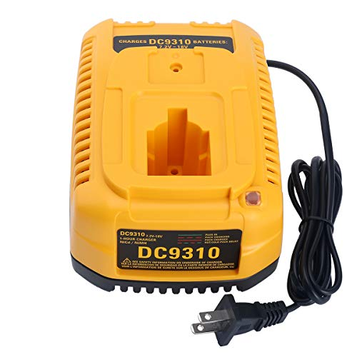 Lasica 18V DC9310 Fast Battery Charger Replacement for Dewalt 7.2V-18V NiCad NiMh Battery XRP DC9096 DC9099 DW9099 DW9095 DW9096 DW9098 DC9098 DW9091 DC9091 DW9072 DW9061 DeWalt 18V Battery Charger