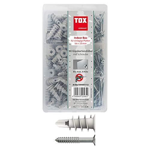 TOX Gipskartondübel - Sortiment Indoor Box 180 tlg, 1 Stück, 094901112