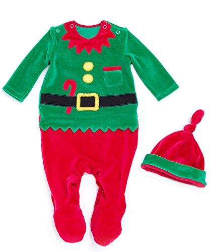 Vine Natale Bambini Costume Neonati Abbigliamento & Berretto Vestito Di Natale Set