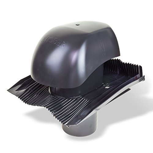 Klöber Venduct Lüfter-Set DN150 schwarz Universal Dachentlüftung Dachlüftung Dunstabzug KE0561-0450