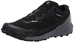 SALOMON Men's Sense Ride Competition Running Shoes, Black (Black/Quiet Shade/Magnet), 8.5 UK