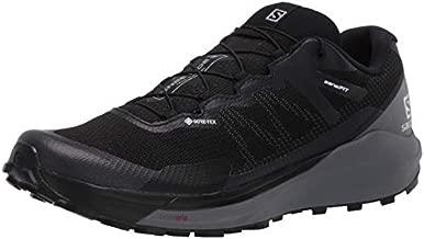 Salomon Men's SENSE RIDE 3 GTX Invisible Fit, Trail Running Shoe, Black/Quiet Shade/Magnet, 13