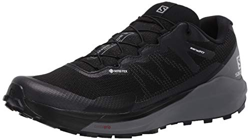 Salomon Men's SENSE RIDE 3 GTX Invisible Fit, Trail Running Shoe, Black/Quiet Shade/Magnet, 10.5