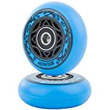 AOWISH 2-Pack Mini Ripstik Wheels 68mm Ripster Wheels 90A Ripstick DLX Mini Caster Board Replacement Wheel with Bearings ABEC-9 (Blue)