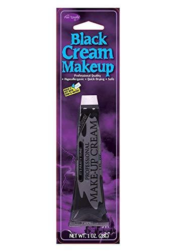 1oz Tube Black Hypoallergenic Cream Make Up Face Paint Halloween Fancy Dress New