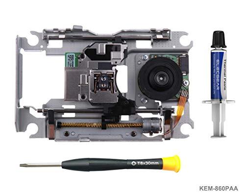 PS4 Blu-ray Laser mit Schiene KEM-860PAA - Ersatz Laufwerk DVD Laser Lens Rahmen/Schlitten und KES-860 Deck für BDP-010 and BDP-015, Torx TR8 Security Schraubendreher für Playstation 4 CUH-10xx