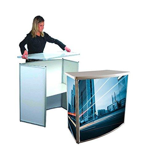 Messetheke Alu-Frame, Promotiontheke, Werbetheke, Verkaufstheke mit Aluminium-Profil
