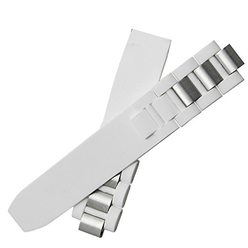 Correa de caucho de acero de 20 mm compatible con 21 broches de hebilla de despliegue CHRONOSCAPH